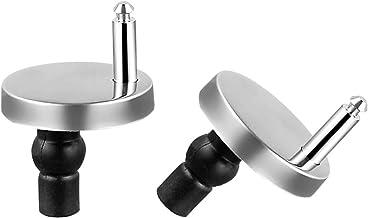2 Pack Toilet Seat Top Bevestigingen voor Toilet Deksel, D-Orange Quick Release scharnieren Blind Gat Fittings Expanding R...