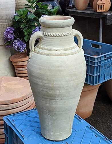 Amphore 60 cm aus Terracotta Terrakotta mit 2 Henkeln Garten Landhaus Deko
