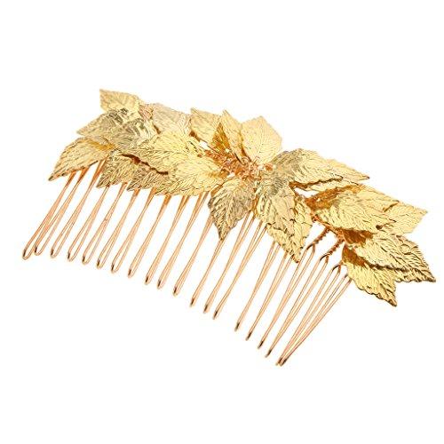 MagiDeal Kristall Haarnadeln, Kristall Tiara , Haarpins, Haarkamm,Haarklammer, Hochzeit Haarschmuck für Braut - Gold, 10x6.5cm