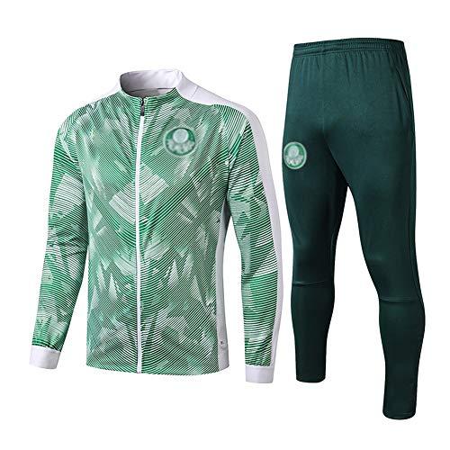 L-YIN Traje entrenamiento de fútbol Club de adulto Camiseta de la Juventud de manga larga y pantalones de jogging BreathableTop QL0056 Traje Chándales (Color : Green, Size : S)