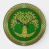 Reloj de pared con diseño de árbol de la vida celta, funciona con pilas, silencioso, con diseño de árbol de la vida