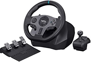$164 » PXN V9 PC Driving Wheel, 900 Degree Vibration Racing Steering Wheel Set with Clutch and Shifter for PC, PS3, PS4, Xbox one...