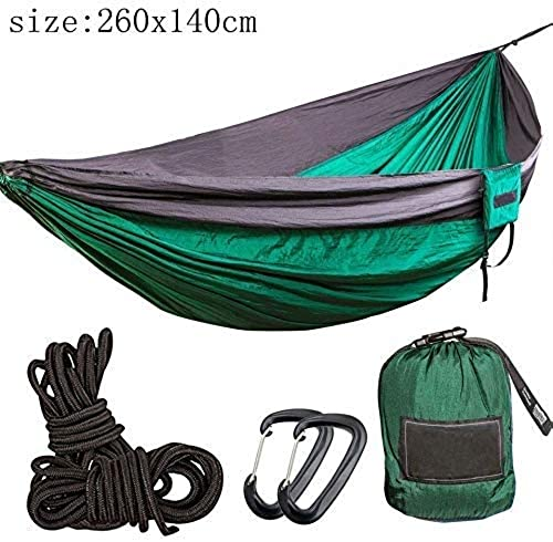 ZNQY Camping hamac en Plein air, portable en Nylon hamac en Plein air Camping Survie Double Voyage Swing Parachute Jardin Swing