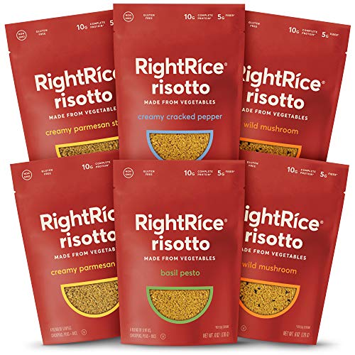 RightRice Risotto - Variety Pack (6oz. Pack of 6) - Made from Vegetables - High Protein, Vegan, Non-GMO, Gluten Free