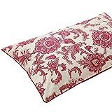 Juego de cama Estilo del modelo rojo y blanco de la porcelana Throw Pillow caso funda de cojín de algodón decorativo mezcla de lino funda de almohada Quilt Set ( Color : Rojo , Size : 48*74cm )