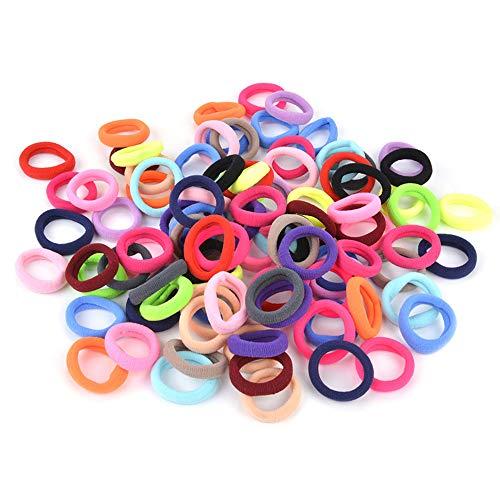 Élastiques Cheveux Cravates, Zoylink 100 pcs Cheveux Bandes Ponytail Titulaire Bobbles Bandes pour Filles Bébé Enfants