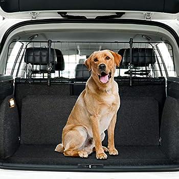 Toozey Filet Voiture pour Chien, SUV Universal - Grille de Separation pour Chien Protection avec Monture d'appui-tête&Sangles - Réglable, E-Book Gratuit