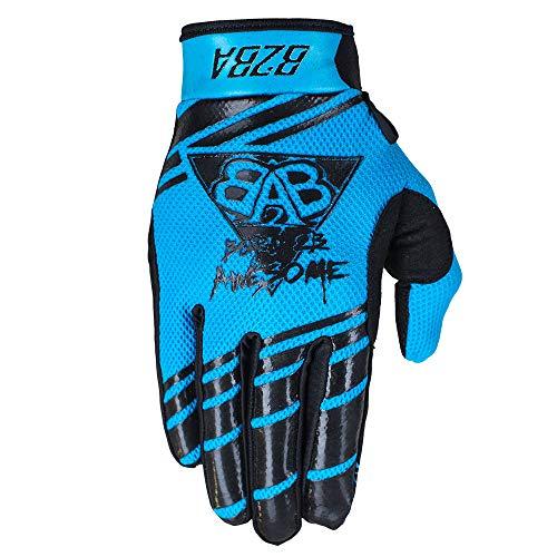 B2BA Clothing RACEWEAR Guanti leggeri Mountain Bike Downhill Enduro Motocross Freeride DH MX MTB BMX Quad Cross, ad asciugatura rapida, antiscivolo e traspiranti, 2020 Neon blu nero Blu L