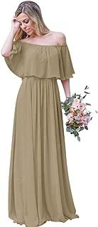 Best bridesmaid off the shoulder dress Reviews