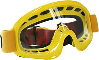 Leopard Motocross Brille Motorrad Quad ATV Off Road Schutz Brille Motorradbrillen, Erwachsene Gelb