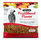 ZuPreem FruitBlend Flavor Pellets Bird Food for Parrots and Conures, 12 lb - Powerful Pellets Made in USA, Naturally Flavored for Caiques, African Greys, Senegals, Amazons, Eclectus, Small Cockatoos