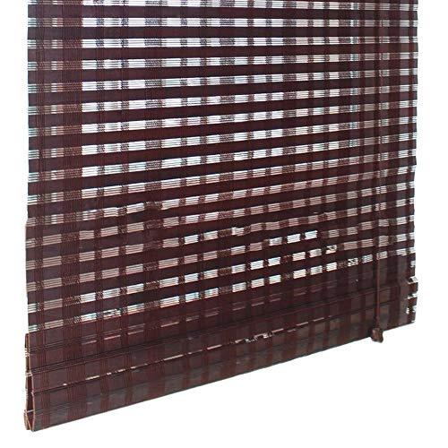 Jcnfa-Roller Blind Bamboe Rolgordijn Brede Bamboe Gordijn Licht Filteren Zonneschaduw Balkon, Woonkamer Slaapkamer, Grootte kan worden aangepast