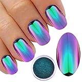 Polvo para uñas, cambio de color, efecto camaleón, cromado, con efecto de purpurina,...