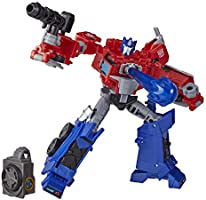 Transformers E70965L00 Toys Cyberverse Deluxe Class Optimus Prime Action Figure, Matrix Mega Shot Attack Move and...