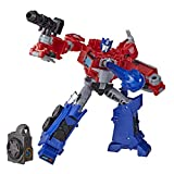 Transformers Spielzeuge Cyberverse Deluxe-Klasse Optimus Prime Action-Figur, Matrix Mega Shot Action Attacke, 'Build-A-Figure' Element, 12,5 cm