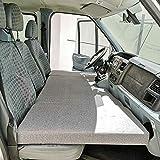 KFoam.es Colchón Plegable Cama Delantera Camper para Ford Transit Color Gris (2006-2013)