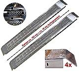 TRUTZHOLM® 2X Auffahrrampe 184 cm lang 400 kg Laderampe verzinkter Stahl Antirutsch Rampe...
