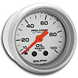 Auto Meter 4321 Ultra-Lite Mechanical Oil Pressure Gauge, Regular, 2.3125 in.