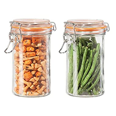 Oggi Airtight Glass 17 Ounce 2 Piece Canister Set
