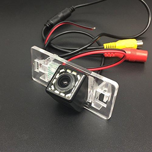 LEDs Car Rear View Camera for Audi A1 A3 Q3 A4 A4L S4 RS4 A5 S5 RS5 Q5 A6 A6L S6 A7 S7 TT TTS & HD CCD Night Vision Waterproof and Shockproof Reversing Backup Camera (12 LED)