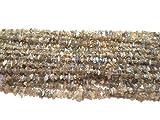 Natural 1 Strand 34? Labradorita azul perlas de Flash sin cortar patatas fritas / forma libre de piedras preciosas perlas   4-5 mm de fricción desiguales granos lisos para hacer la joyería