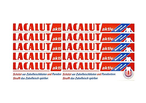10x LACALUT aktiv Zahncreme 100 ml PZN 5484132 Parodontose Zahnfleischbluten