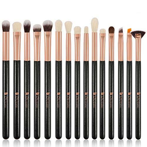 DUcare 15 Piezas Brochas para Maquillaje de Ojos Profesionales Kit de Brochas para Sombras, Delineado, Difuminado - Lápiz, Sombreado, Cónico, Definidor
