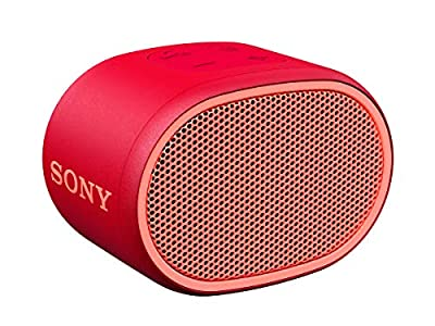 Sony SRS-XB01 Compact Portable Water Resistant Wireless Bluetooth Speaker with Extra Bass - Red from Sony