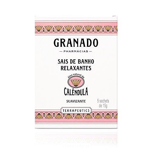 Granado - Sais de Banho Terrapeutics Calêndula, 5 Sachets de 15 g, Rosa Claro