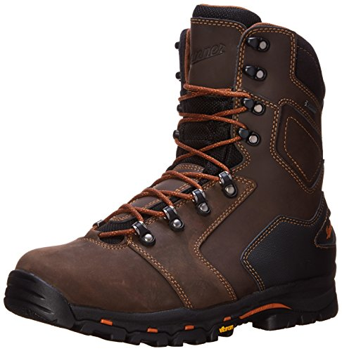 Danner Men's Vicious 8 Inch Work Boot,Brown/Orange,11 D US