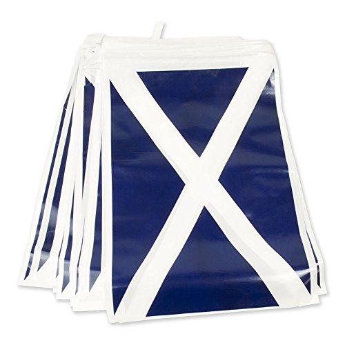 blaue fahne mit weißem kreuz