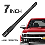 Rydonair Antenna Compatible with Chevy Silverado & GMC Sierra/Denali | 7 inches Flexible Rubber Antenna Replacement | Designed for Optimized FM/AM Reception