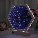 Uonlytech 3D Tunnel Lamp Infinity Mirror Light Double-Side Led Night Light for Christmas Birthday Party Wedding Living Room Decor