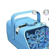 XTZJ Macchina a bolle, Auto Bubble Blower Portable Bolla Maker per bambini con 6000+ bolla / min, 2 velocità, motore brushless, alimentato da plug-in o batterie, giocattoli di bolle per feste di nozze