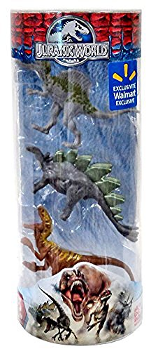 Jurassic World Dinos Spinosaurus, Stegosaurus & Velociraptor Exclusive 3 Mini Figure by Hasbro
