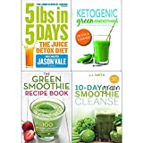 Juice detox diet, ketogenic green smoothies, green smothie recipe book and 10 day green smoothie cleanse 4 books collection set