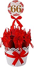 Decorative Candy Box Wedding Party Favor Gift Box, Red Box + Red Bow