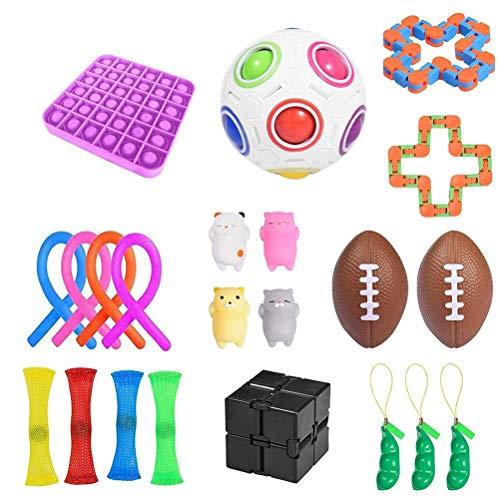 NEWMAN771Her Juego de Juguetes sensoriales Fidget, Juguete sensorial Juguetes de Mano para apretar la ansiedad para niños y Adultos Juguetes calmantes para el Autismo con TDAH