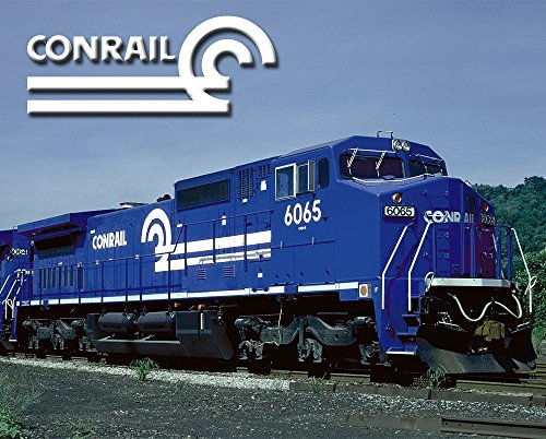 """Conrail """"GE C40-8W"""" 8"""" x 10"""" Metal Sign"""