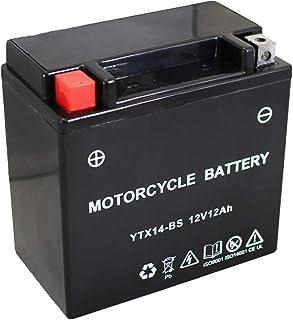 バイク用 バッテリー 液入り 充電済み YTX14-BS ( GTX14-BS / FTX14-BS / DTX14-BS 互換 )