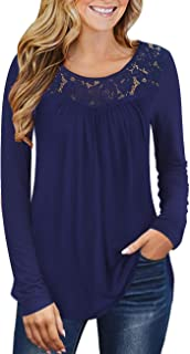 Women's Plus Size Summer Tops Short Sleeve Shirts Lace...