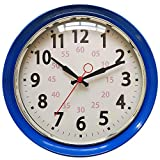 Wall Clock Countryside Style Metal Retro Vintage Wall Clock Silent Non Ticking Easy to Read for Living Room Kitchen Bedroom Office 10 Inch Blue