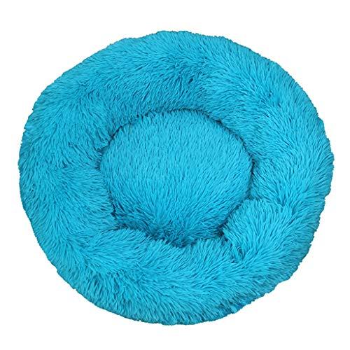 Judyd Lovely - Cama para Dormir para Mascotas, cálida, de Invierno, para Gatos, Nido, Cama para Perros, Perrera Lavable, Azul Marino, Perrera geométrica para Gatos y Perros, Azul Marino