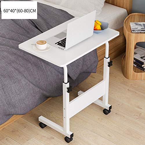 Anwasd7 Mesa para computadora portátil Cama Simple Escritorio Escrito Mesa pequeña Mesa elevadora Mesa de Noche móvil-Blanco_Los 40x60cm