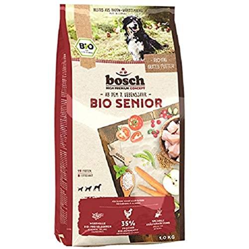 Bosch HPC BIO | dla seniorów kurczaki i borówki cenowe | karma dla psów starszych psów wszystkich ras | 100% surowce rolnicze z udowodnionych, ekologicznych upraw