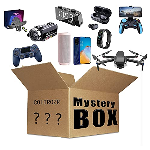 yamysalad Scatola cieca Mystery Box Electronics,Mystery Boxes Random,Birthday Surprise Box,Lucky Box for Adults Surprise Gift,Such As Drones,Smart Watches,Gamepads And More,Best Gift for Holidays