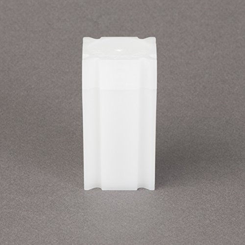 (100) Coinsafe Brand Square White Plastic (Small Dollar) Size Coin Storage Tube Holders