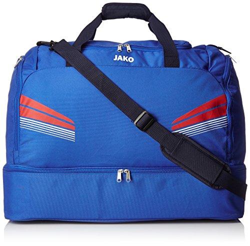 JAKO Sporttasche Pro mit Bodenfach Taschen, Royal/Rot/Weiß, 60 x 35 x 43 cm, 90.3 Liter