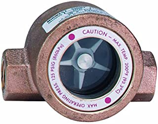 Dwyer Midwest Series SFI-100 Sight Flow Indicator, Single Window, Bronze Body, ABS Impeller, 3/4