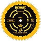 DEWALT 10-Inch Miter / Table Saw Blade, Fine Crosscutting, 80-Tooth (DW3219PT)